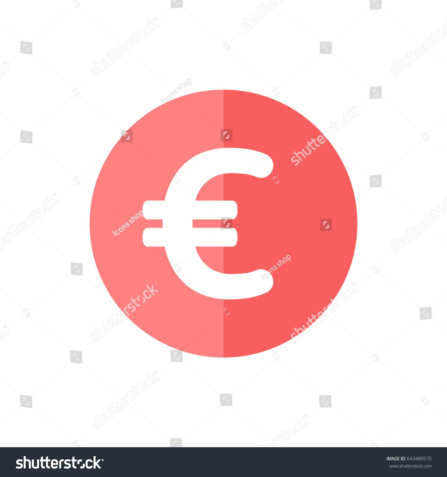 Euro currency icon trendy flat style stock vector 643489570 euro currency icon in trendy flat style isolated on white background award symbol for your buycottarizona Choice Image