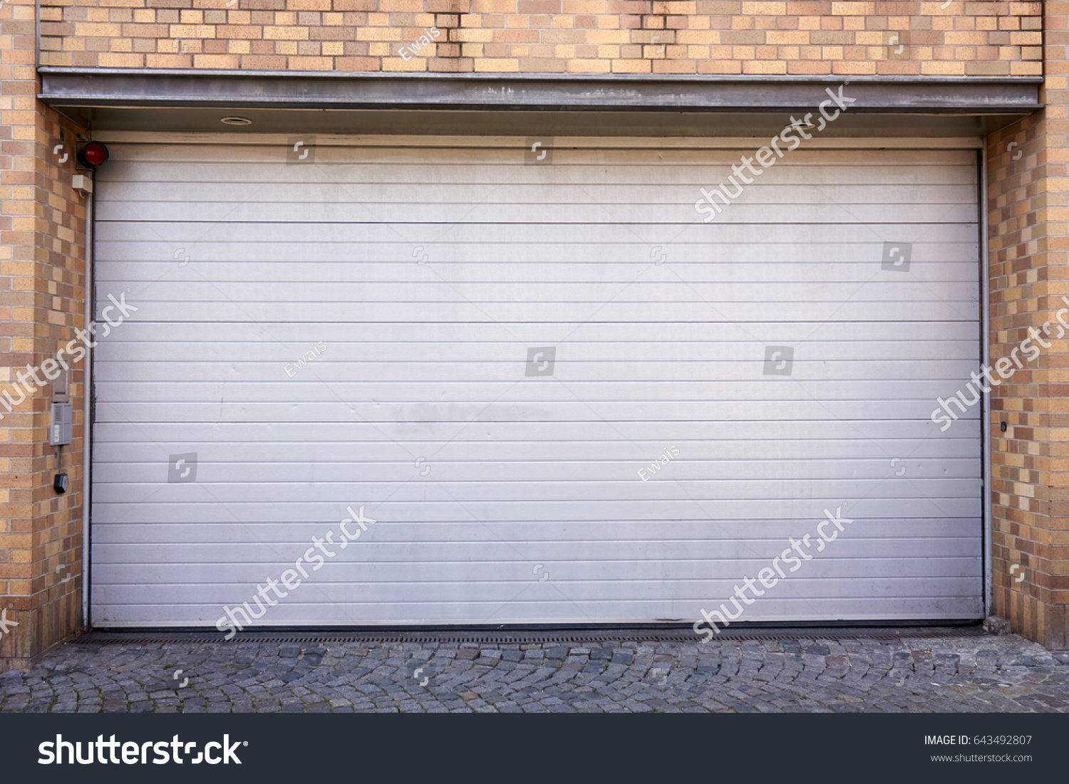 Garage Door Roller Shutter Garage Door Stock Photo Edit Now