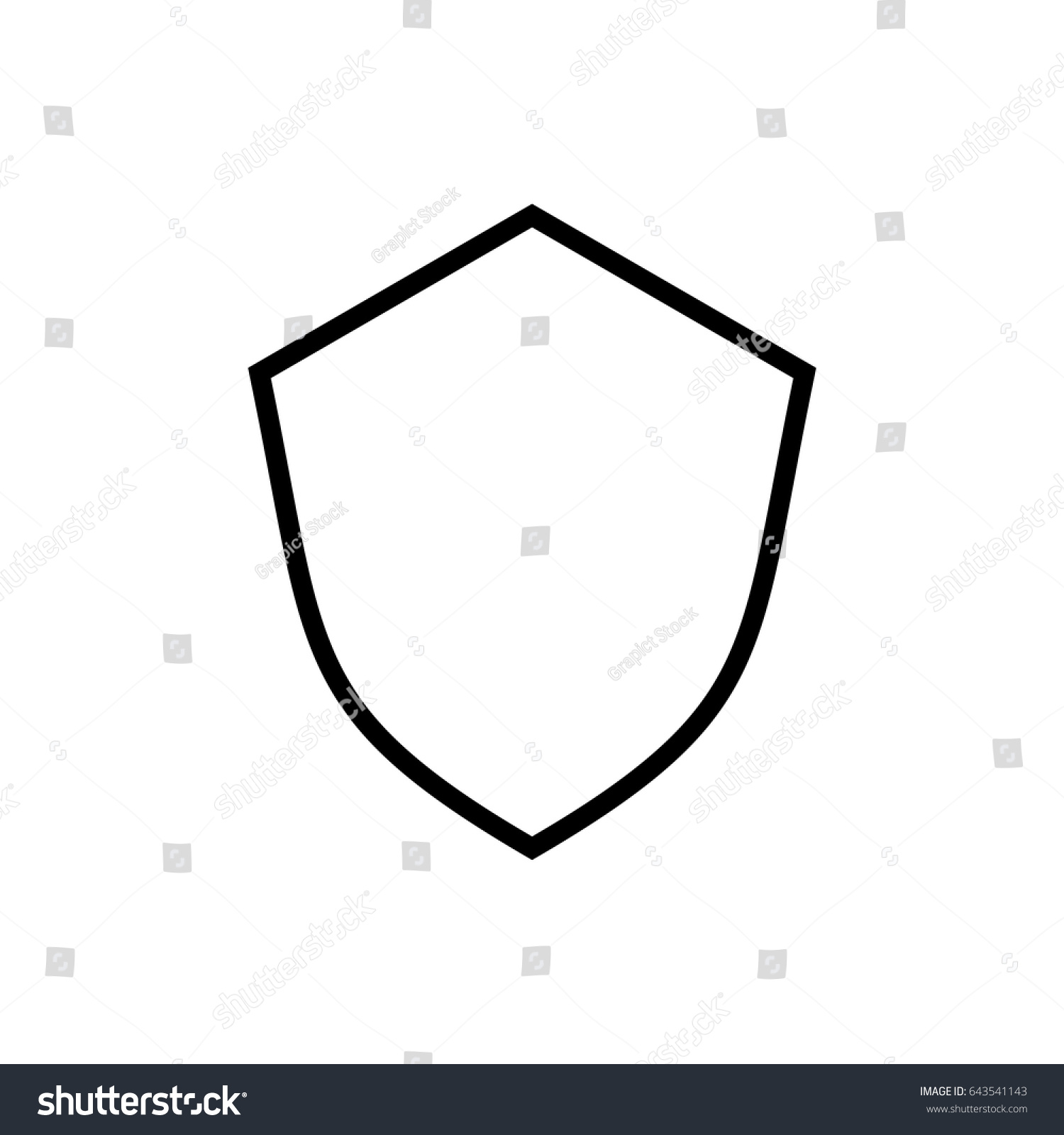 Shield Template Ii Stock Vector HD (Royalty Free) 643541143 ...