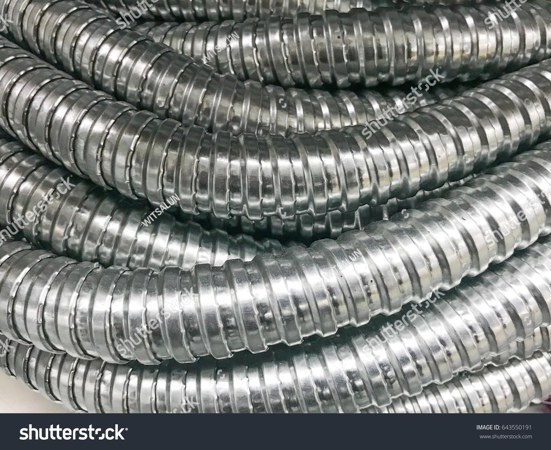 Metal Electrical Flex Conduit Stock Photo Edit Now 643550191 Wire