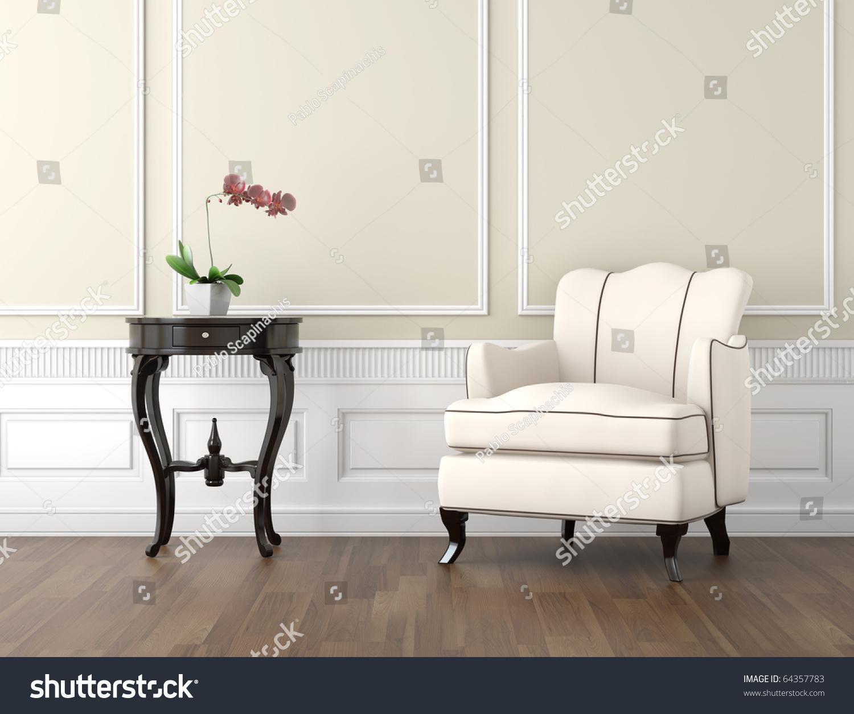 Interior Design Classic Room Beige White Stock Illustration 64357783 ...