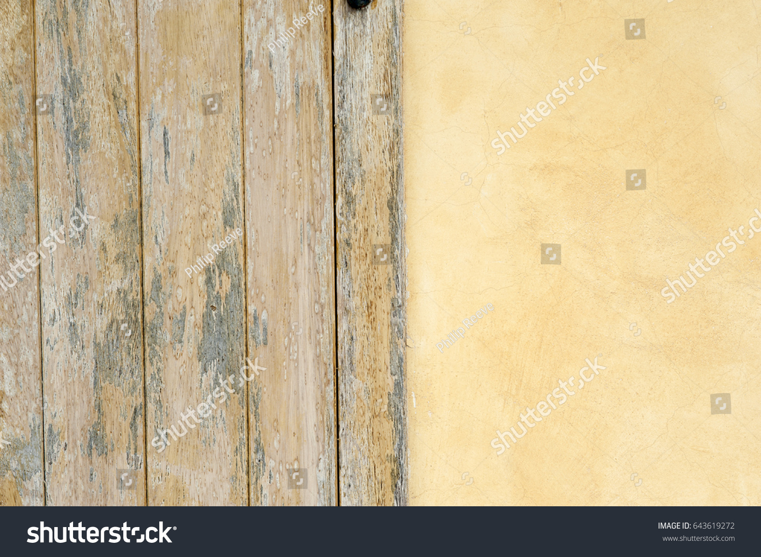 Pastel Wall Colors Woodwork On Exterior Stock Photo (Edit Now ...