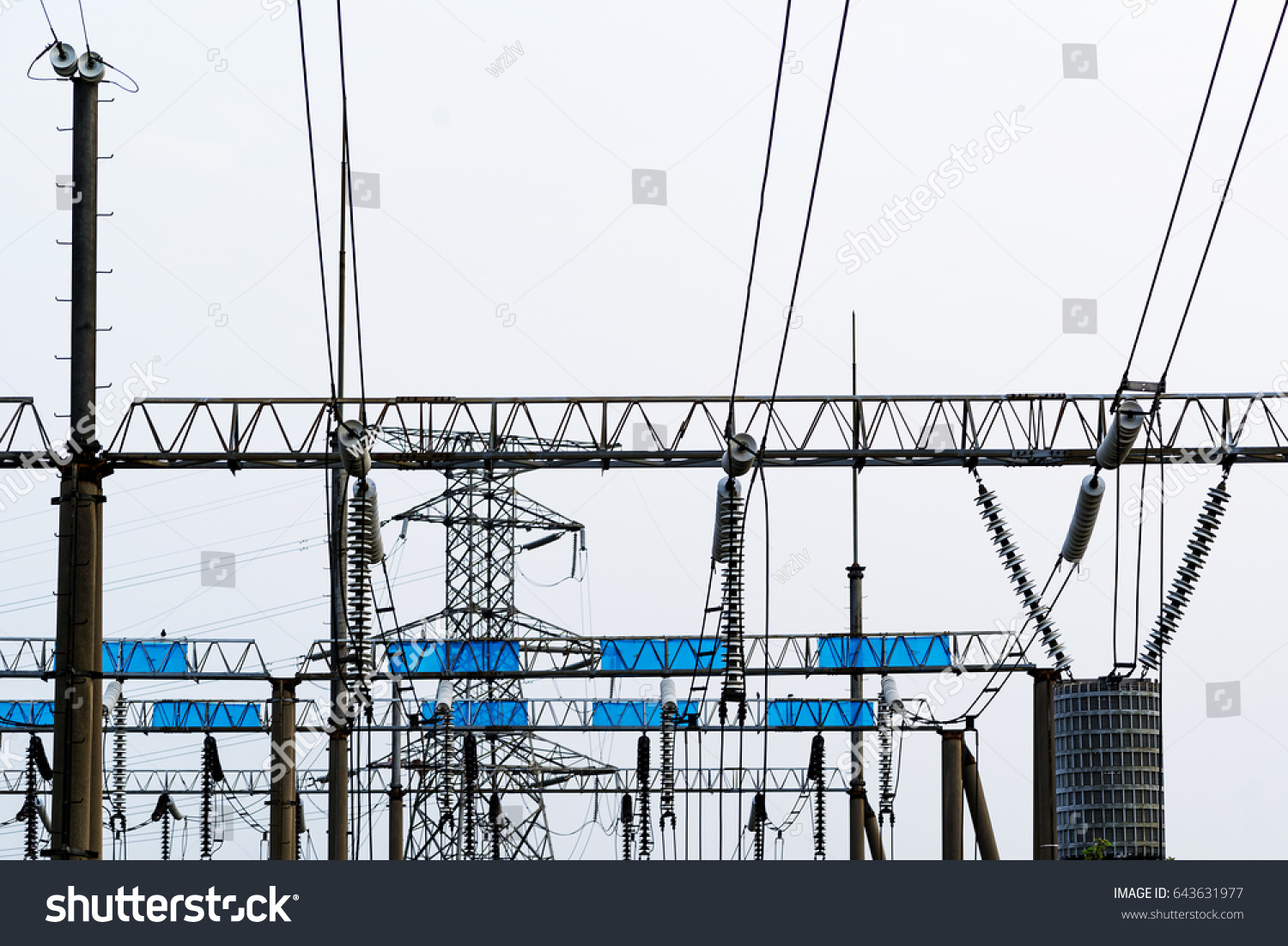 Transformer Substation High Tension Line Complex Grid Ez Canvas Overhead Wiring Diagram