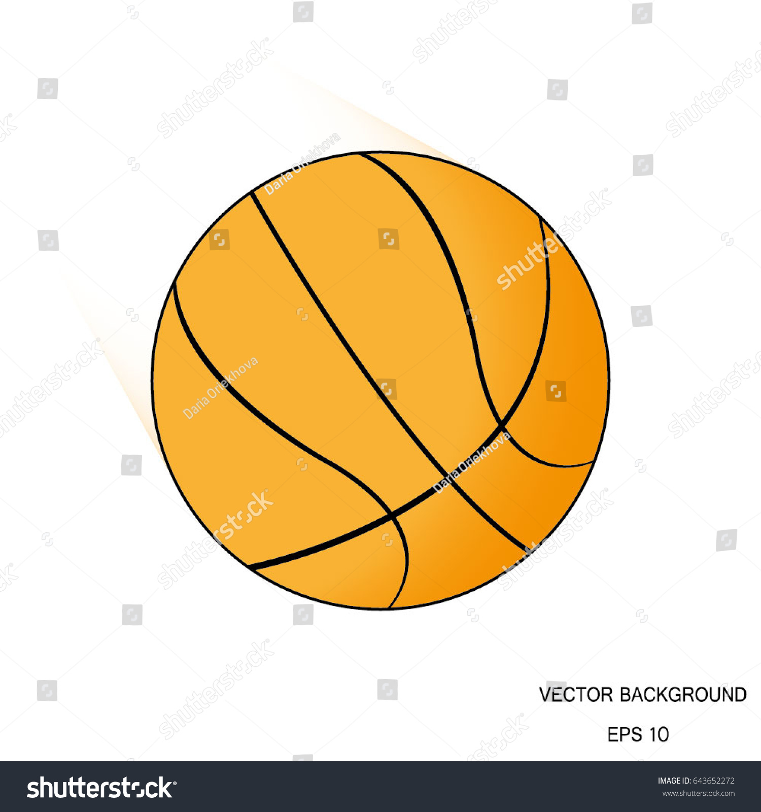 Symbol basketball vector ball design about stock vector 643652272 the symbol of basketball vector ball for design about basketball games or sport biocorpaavc Choice Image
