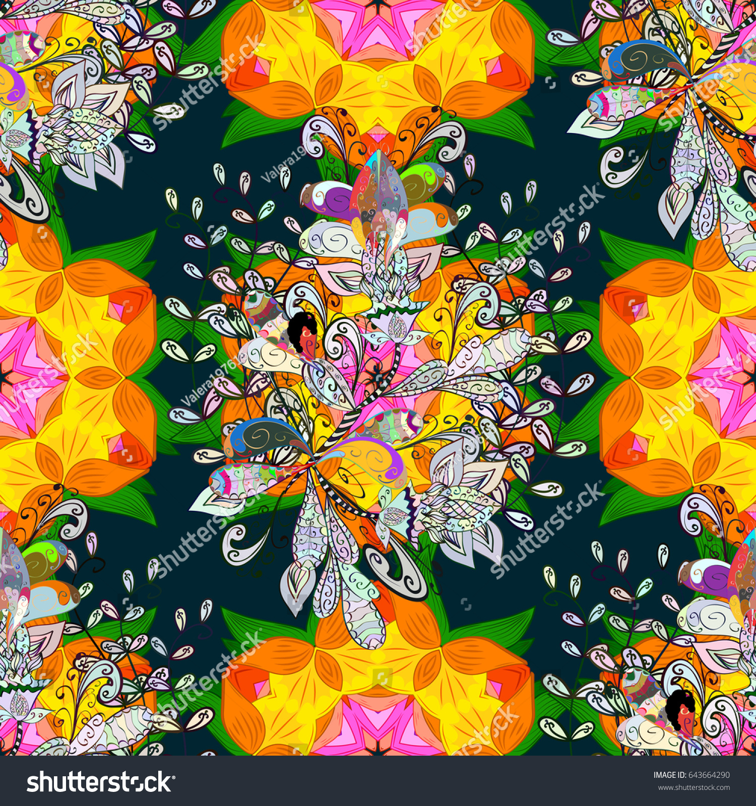 Cute Pattern In Small Flower Motley Illustration Spring Floral