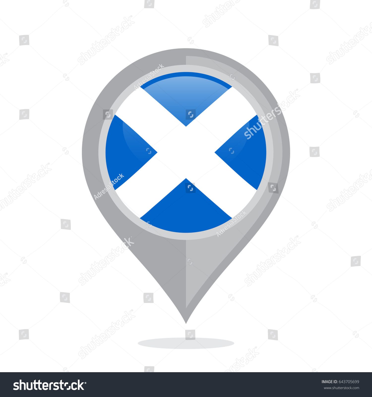 Icon pin illustration scottish country flag stock vector 643705699 icon pin illustration with scottish country flag stylized in the circle biocorpaavc Choice Image