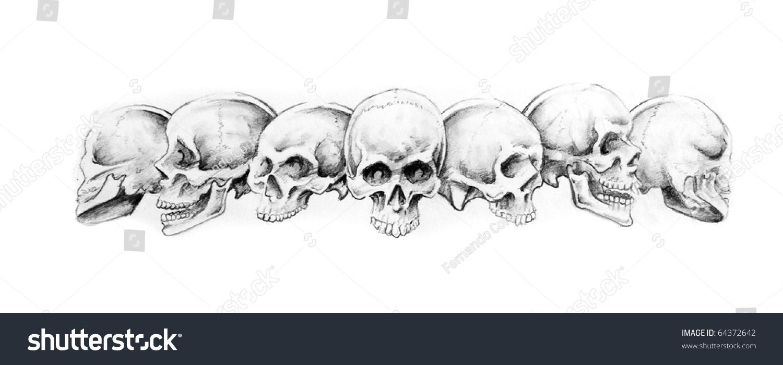 sketch tattoo art indian bracelet skulls stock illustration 64372642 shutterstock. Black Bedroom Furniture Sets. Home Design Ideas