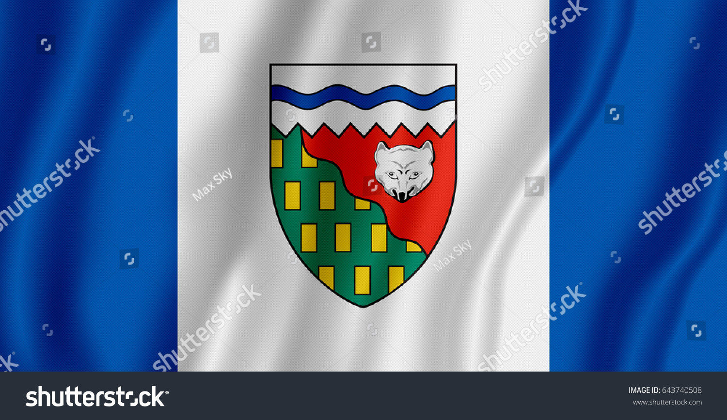 Flag northwest territories canada stock illustration 643740508 flag of northwest territories canada biocorpaavc Choice Image