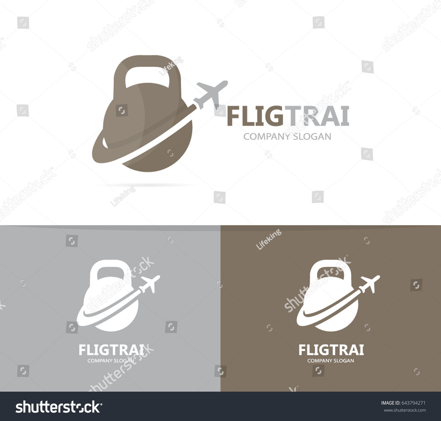 Vector sport airplane logo combination gym stock vector 643794271 vector of sport and airplane logo combination gym and travel symbol or icon unique buycottarizona Choice Image