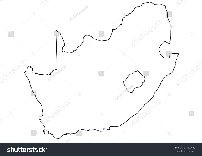 South African Border Illustration Clearภาพประกอบสต็อก 643822648