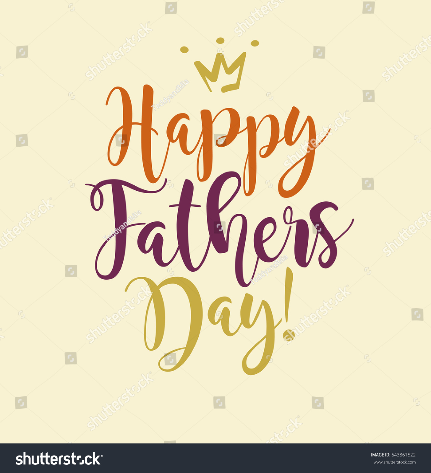 happy fathers day typography design greeting stock vector 643861522 shutterstock