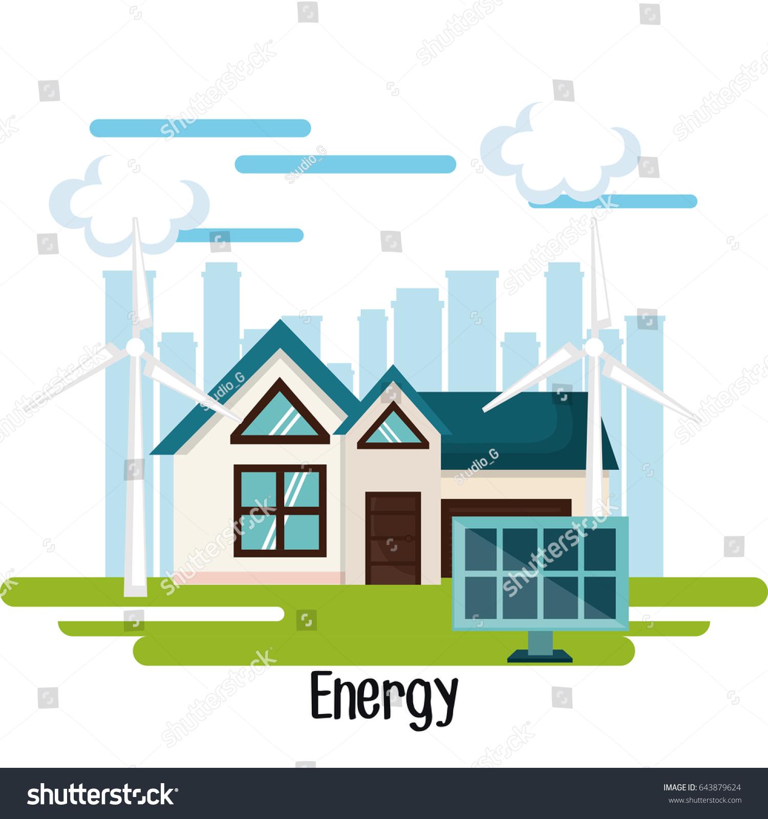 Eco Friendly House Design Stock Vector 643879624 - Shutterstock