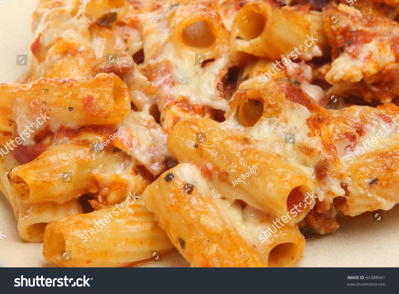 Pasta Bake Tomato Sauce Cheese Stock Photo 64388941 ...