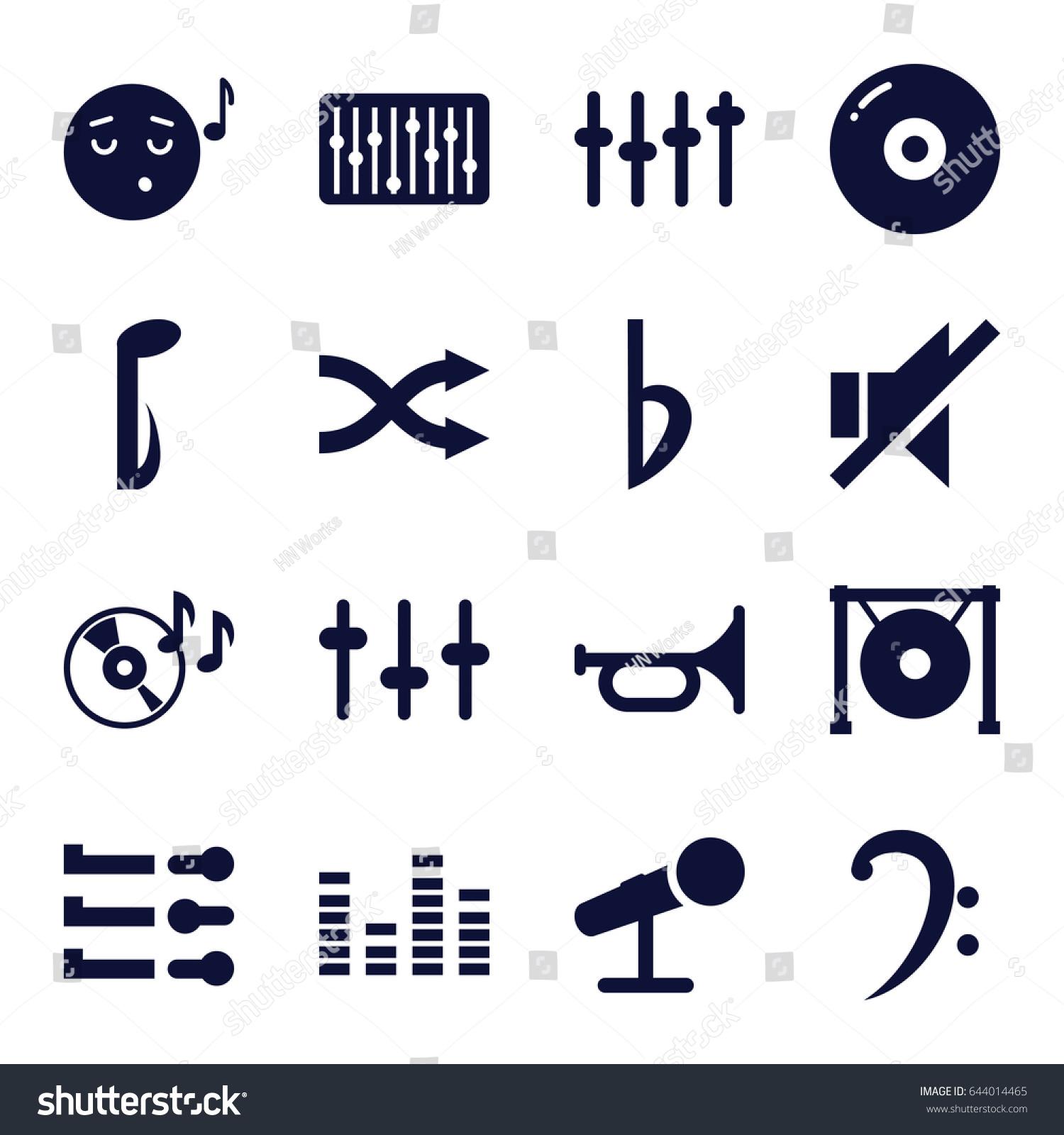 Sound Icons Set Set 16 Sound Stock Photo Photo Vector