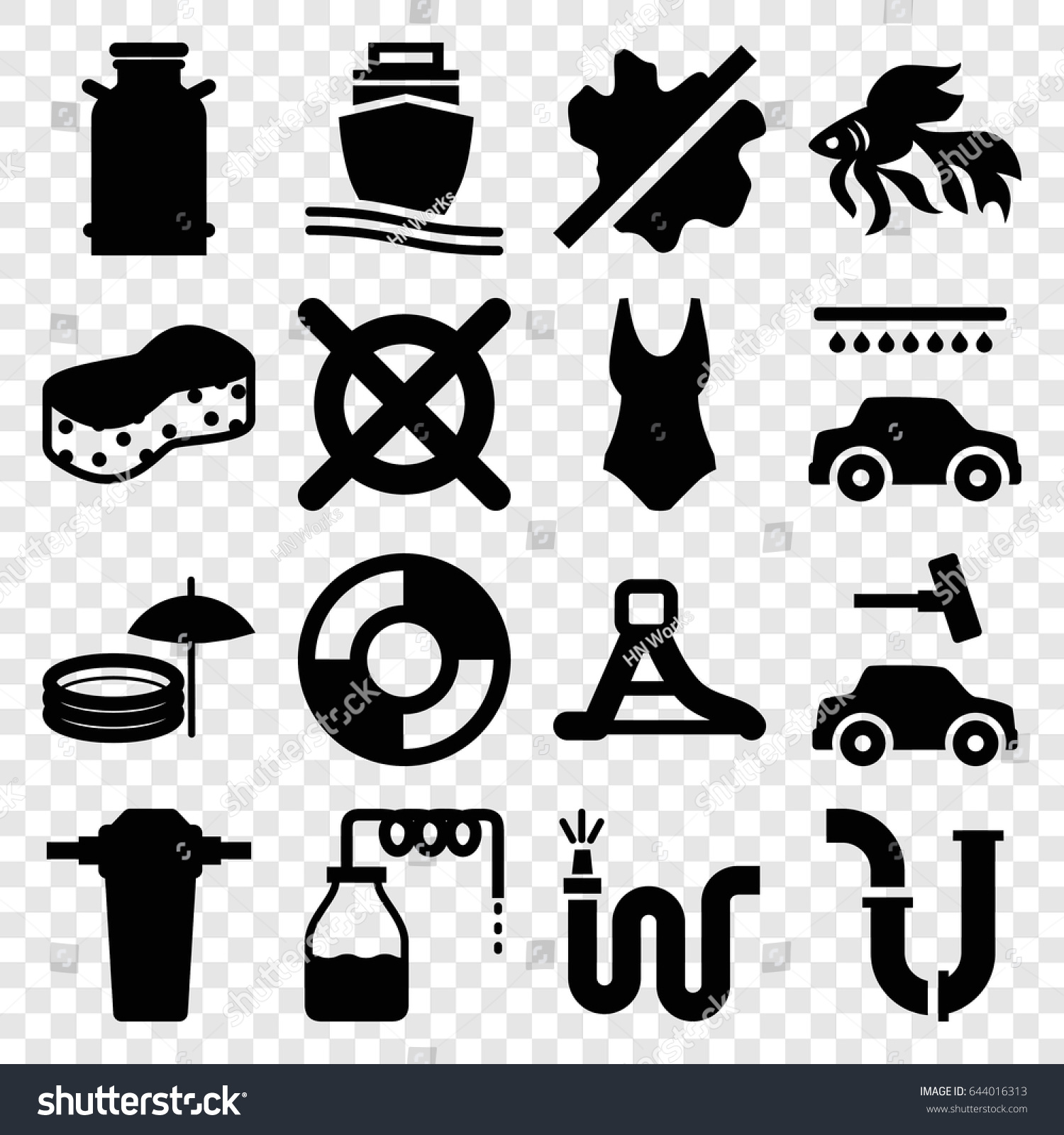 Water icons set set 16 water stock vector 644016313 shutterstock water icons set set of 16 water filled icons such as canister fish biocorpaavc