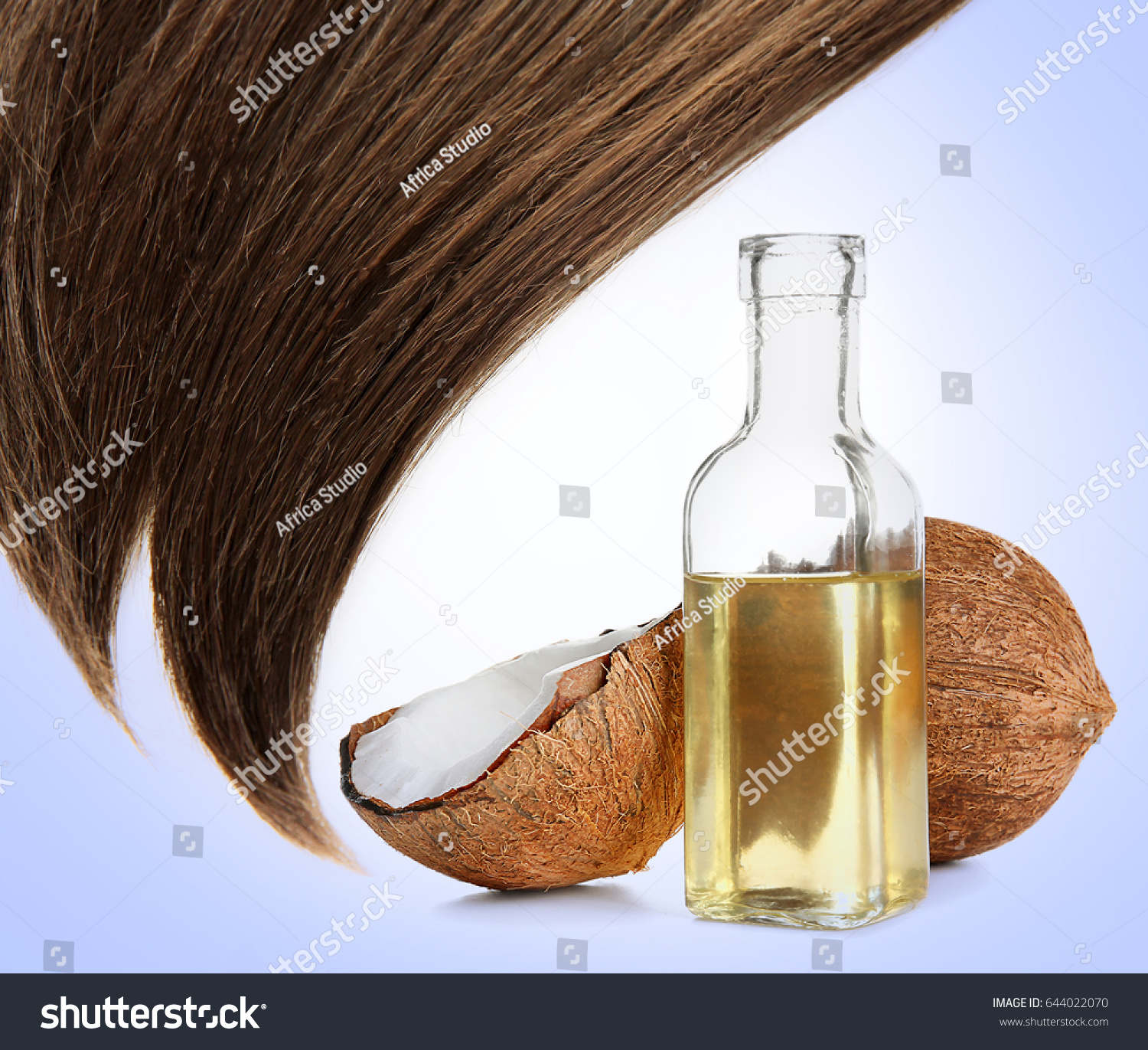 Shiny Hair Bottle Coconut Oil Nut Stock Photo Edit Now 644022070
