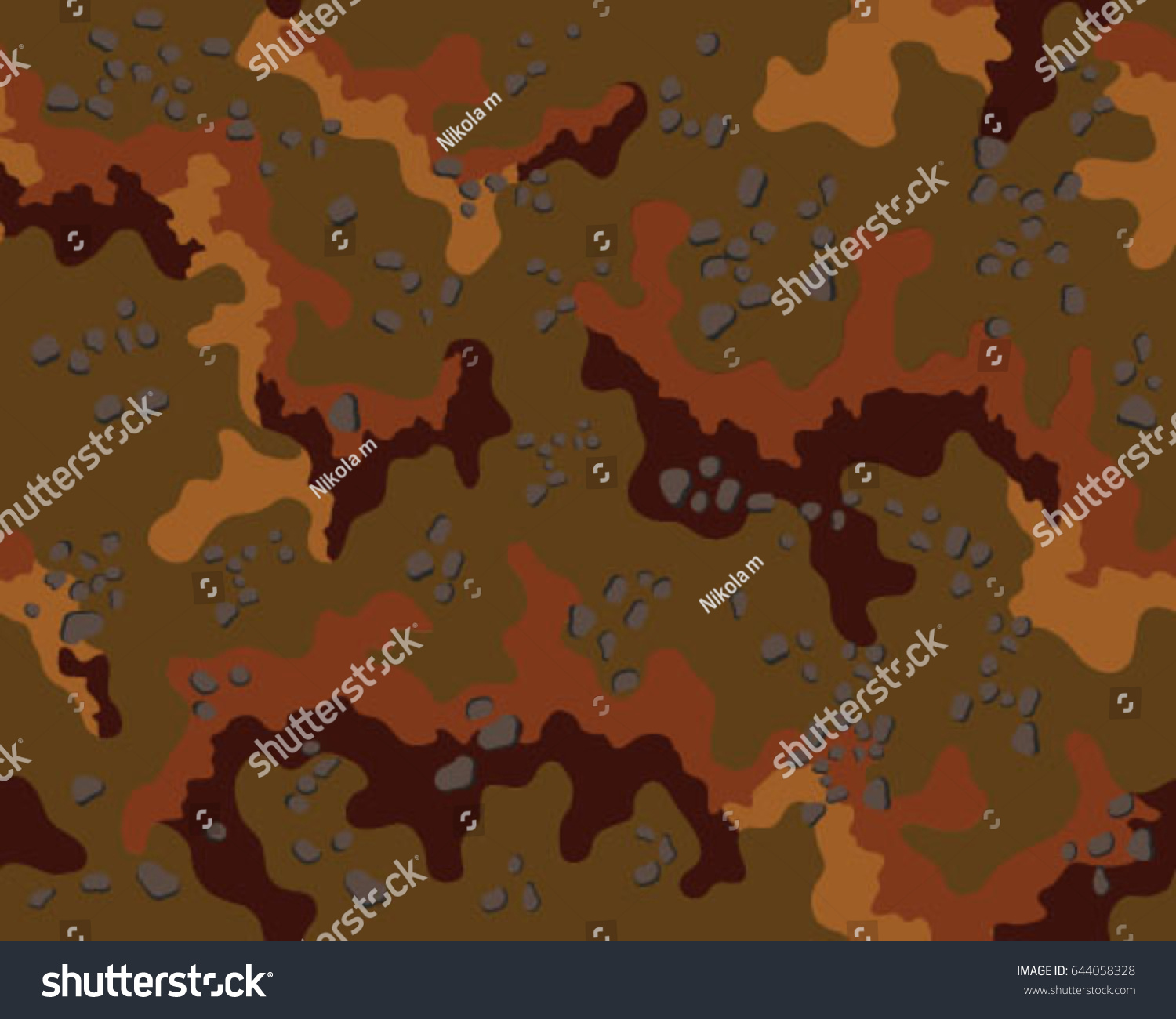 Abstract Camouflage Pattern Seamless Vector WallpaperColorful Background Unique Clothing Style