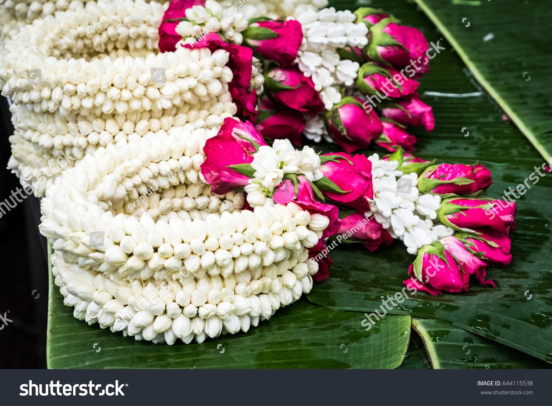 Jasmine Flower Garland Stock Photo Edit Now 644115538 Shutterstock