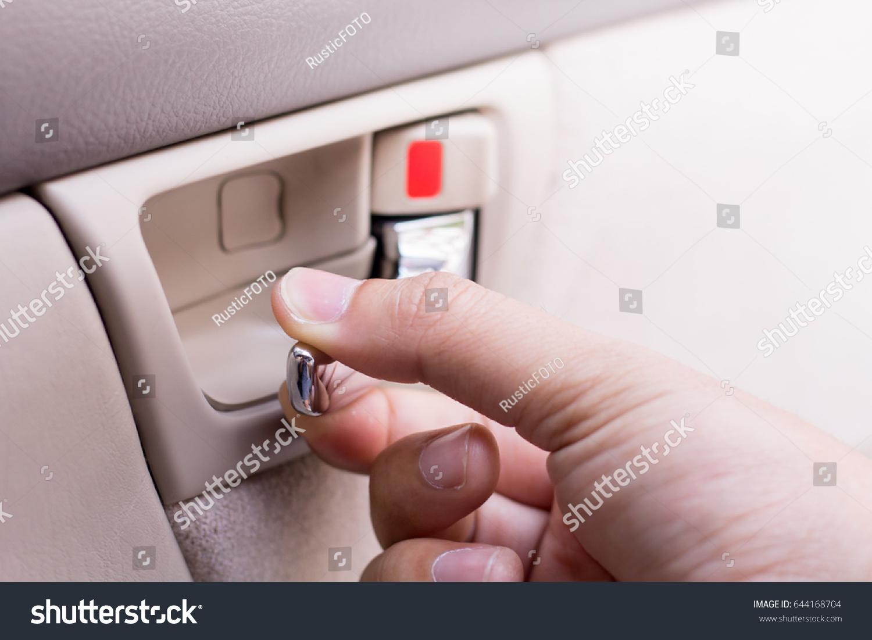 Hand Pulling Car Interior Door Handle Stock Photo Edit Now