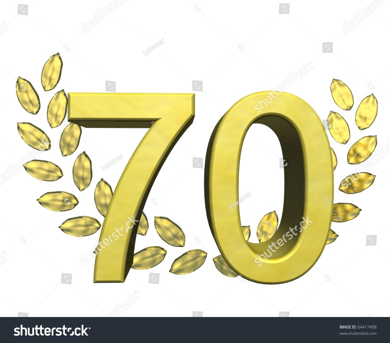 number golden 70 wreath laurel shutterstock