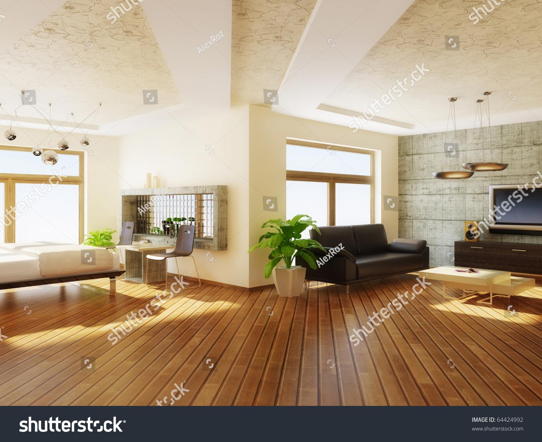 modern interior room with nice furniture inside. Modern Interior Room Nice Furniture Inside Stock Illustration