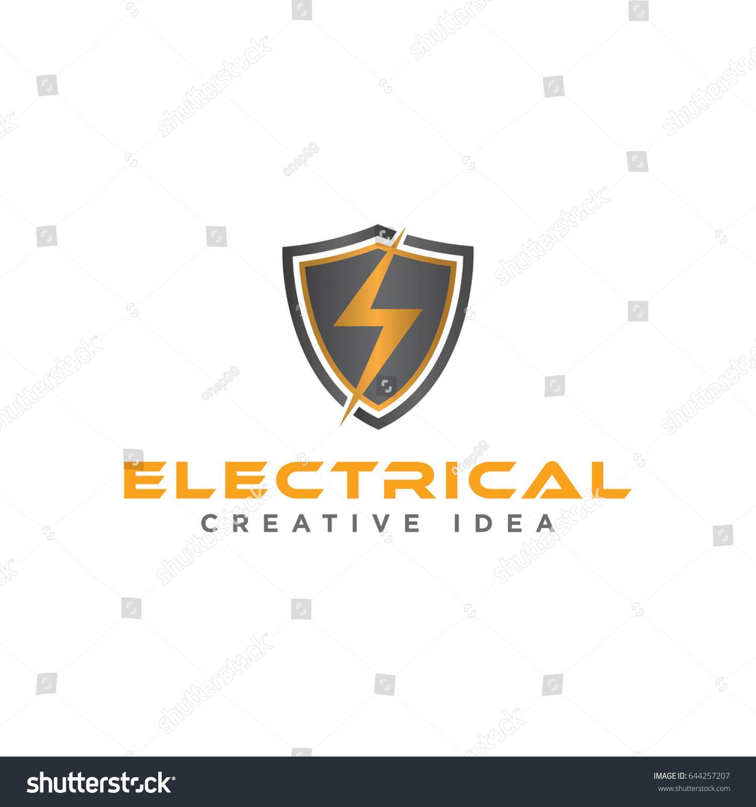 Electrical Logo Stock Vector 644257207