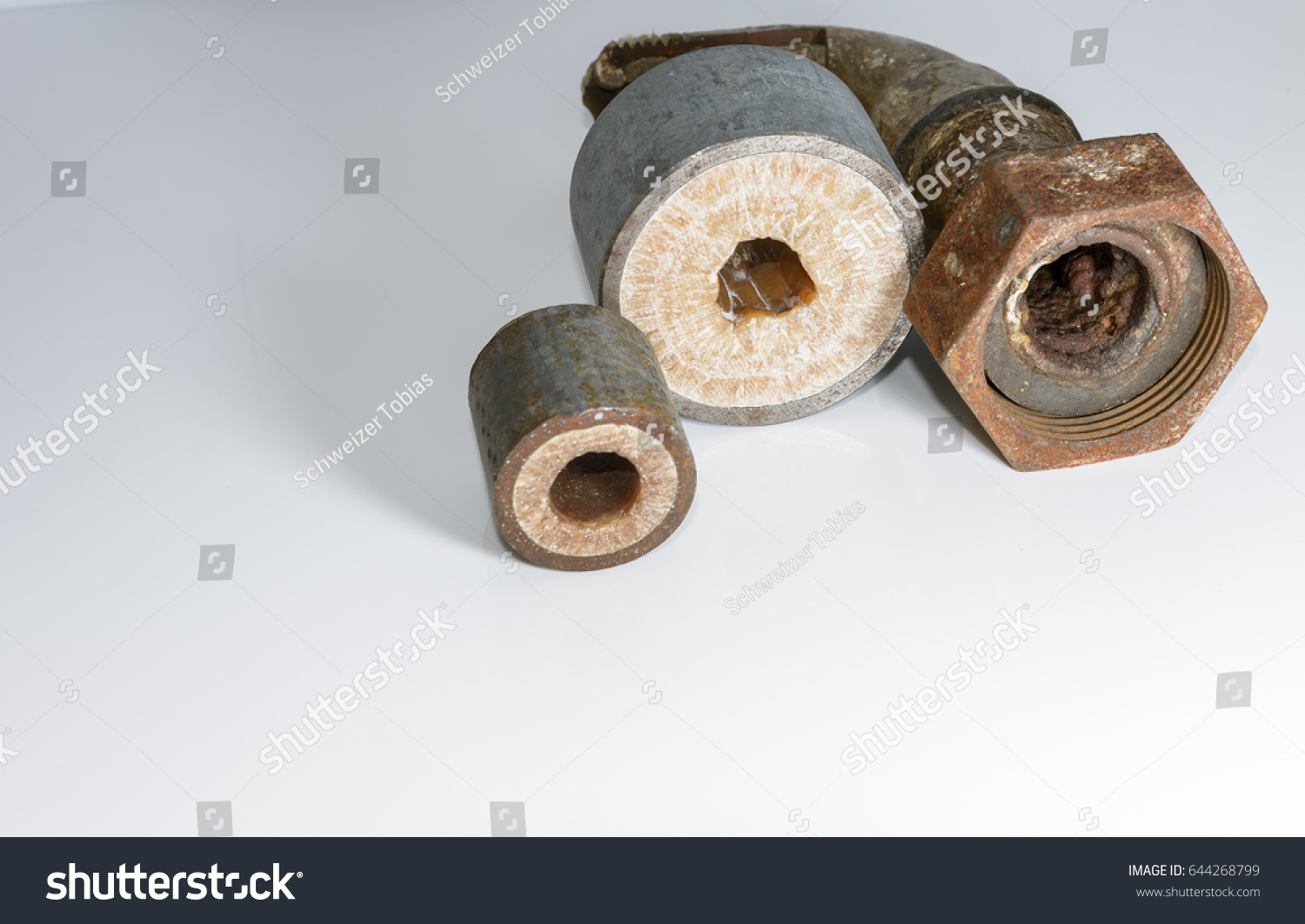 Calcified Water Pipe Installation Stock Photo 644268799 - Shutterstock