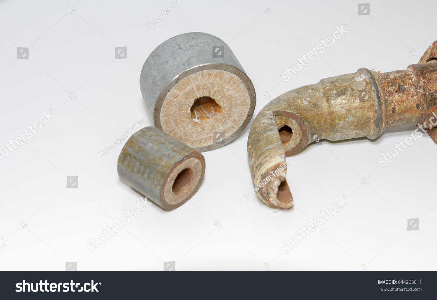 Calcified Water Pipe House Without Water Stock Photo 644268811 ...