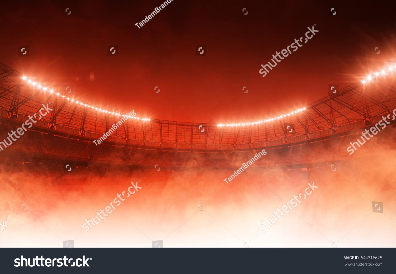 soccer stadium on red steam background #644316625