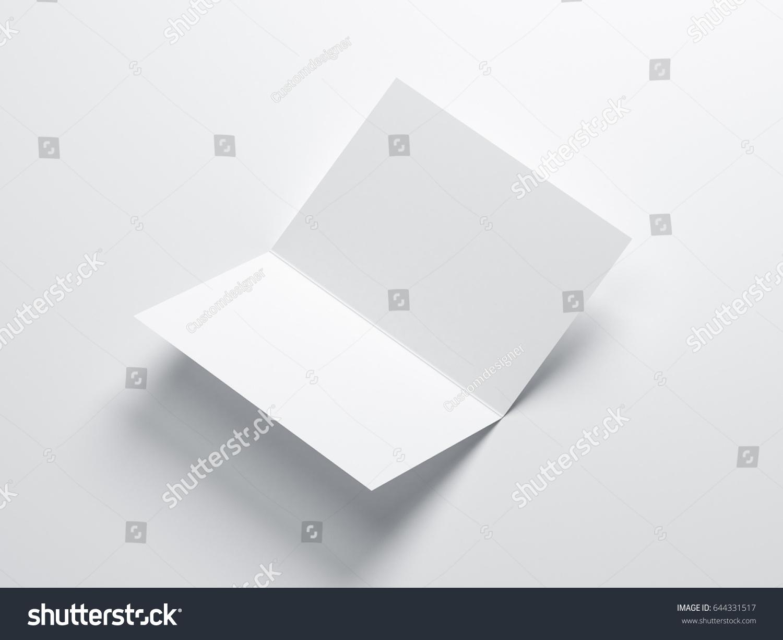 Opened Blank Greeting Card Mockup Leaflet Stock Illustration