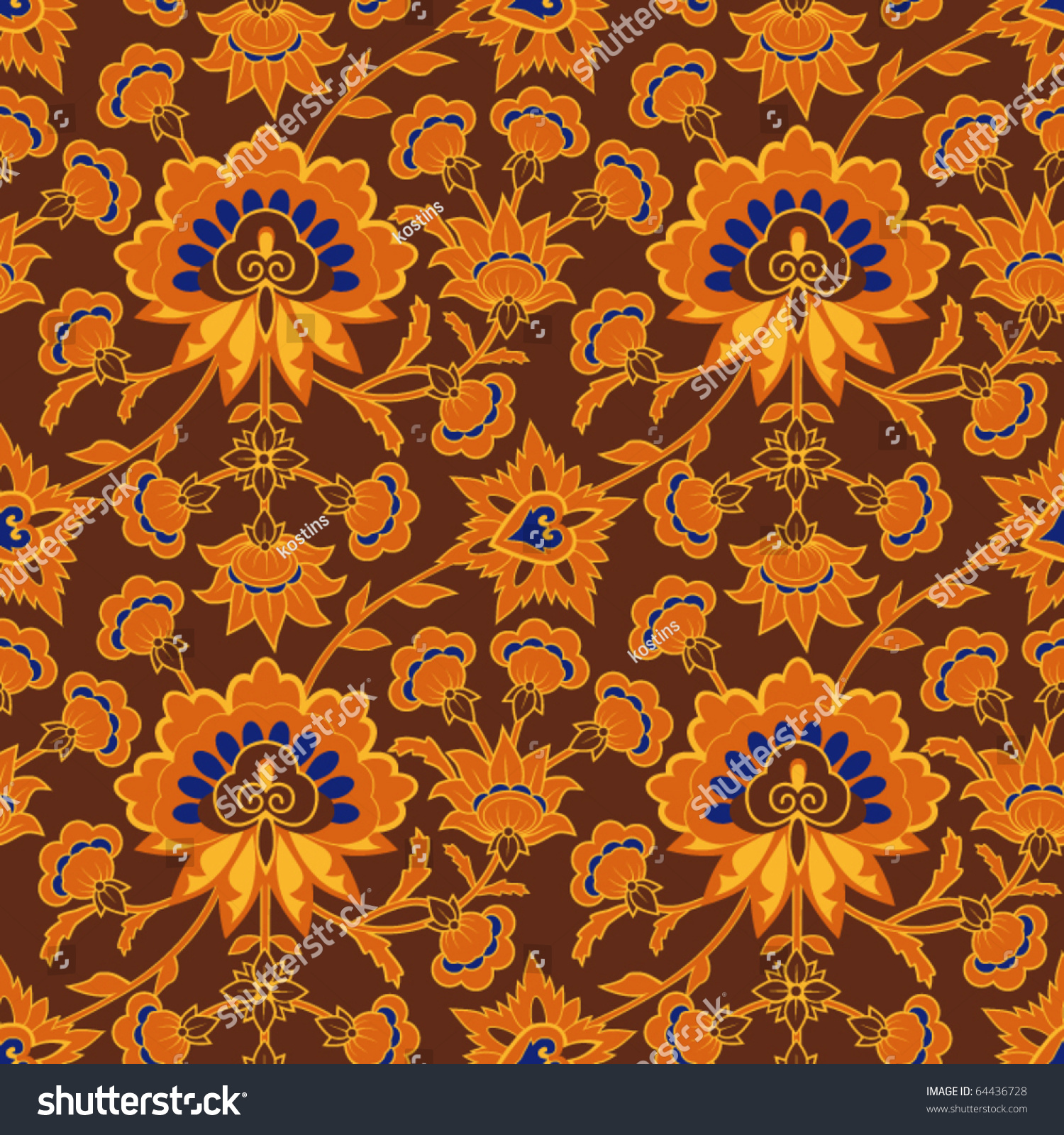 vintage floral brown css html brown wallpaper pattern in vintage style with floral