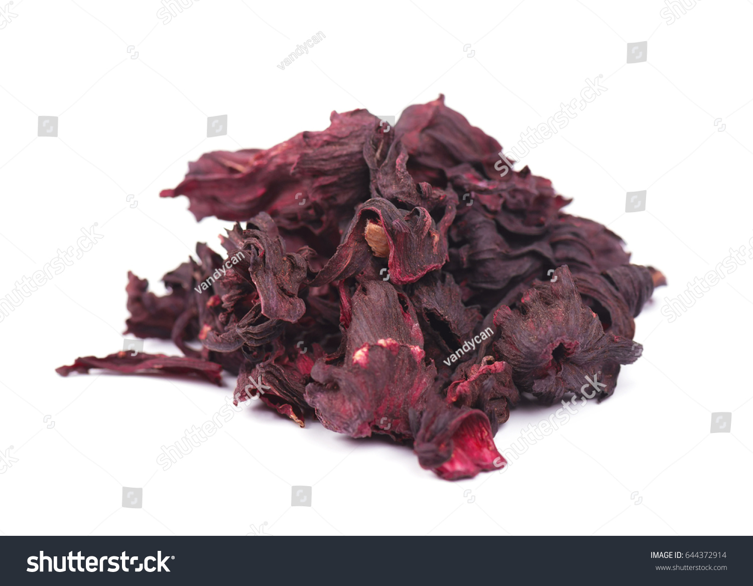 Dried Hibiscus Flowers Ideal For Tea On White Background Ez Canvas