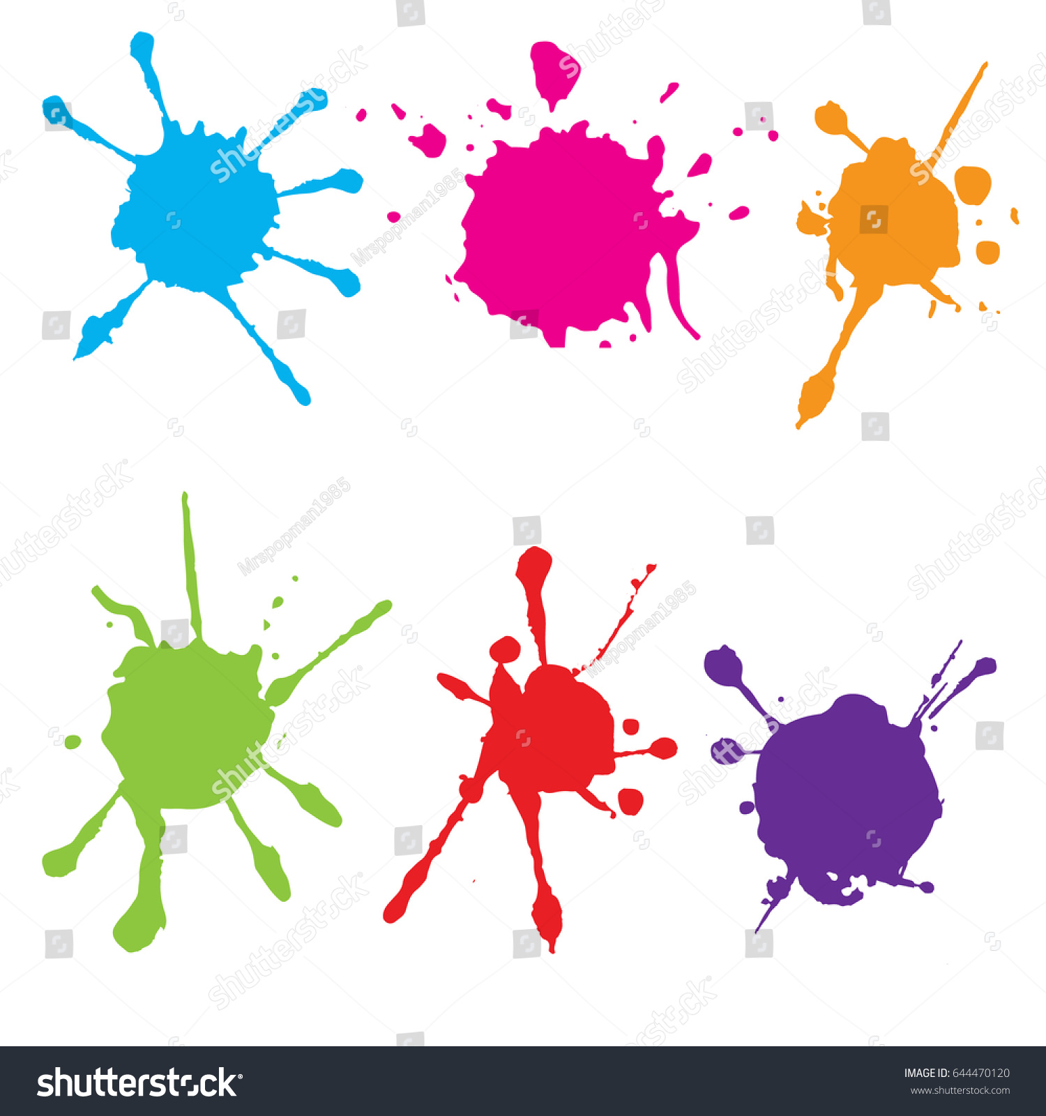 splatter color paint paint splashes set vector stock vector rh shutterstock com vector paint splatter free vector paint splatter free download