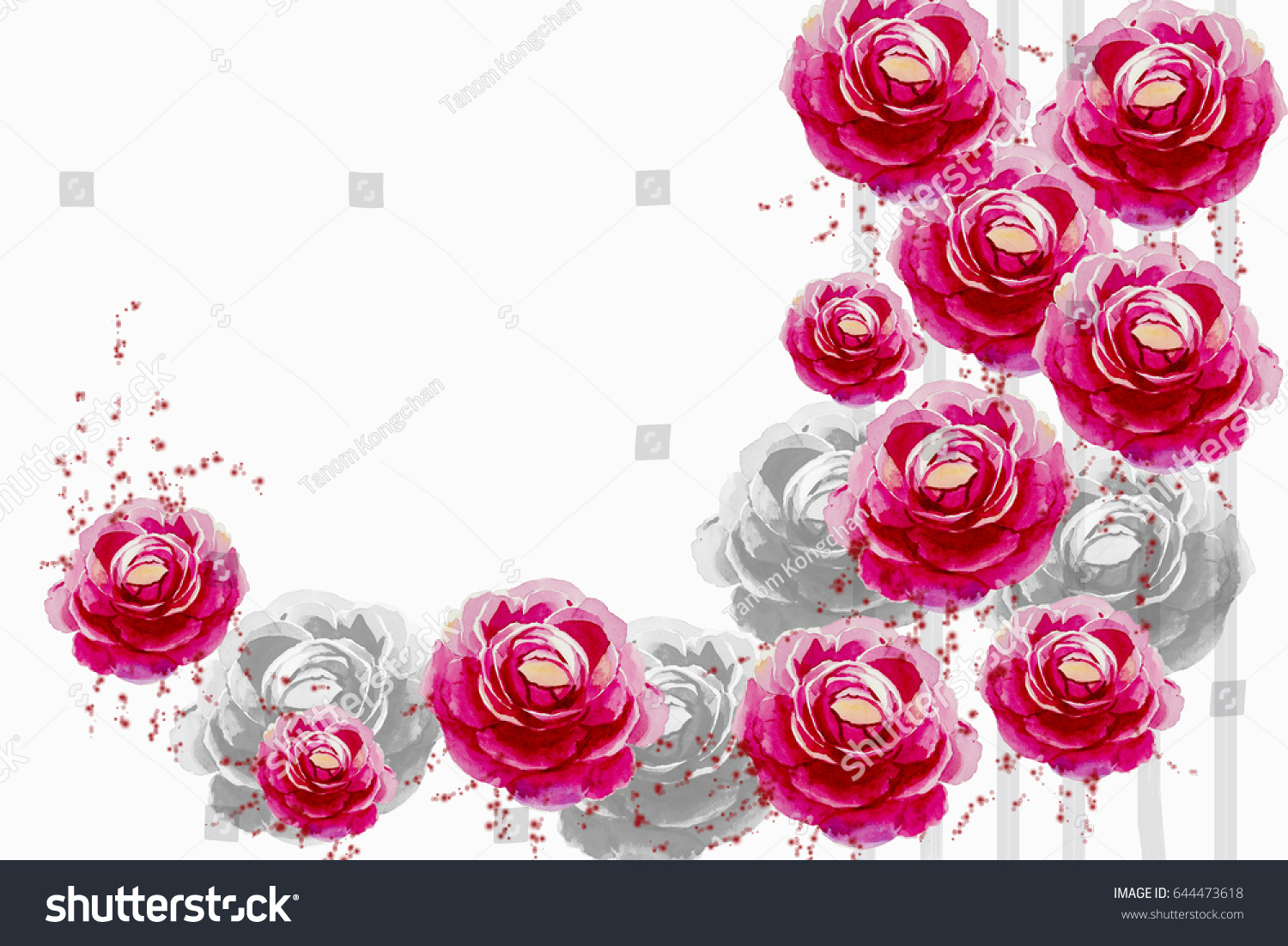 Royalty Free Stock Illustration Of Watercolor Painting Pink Color