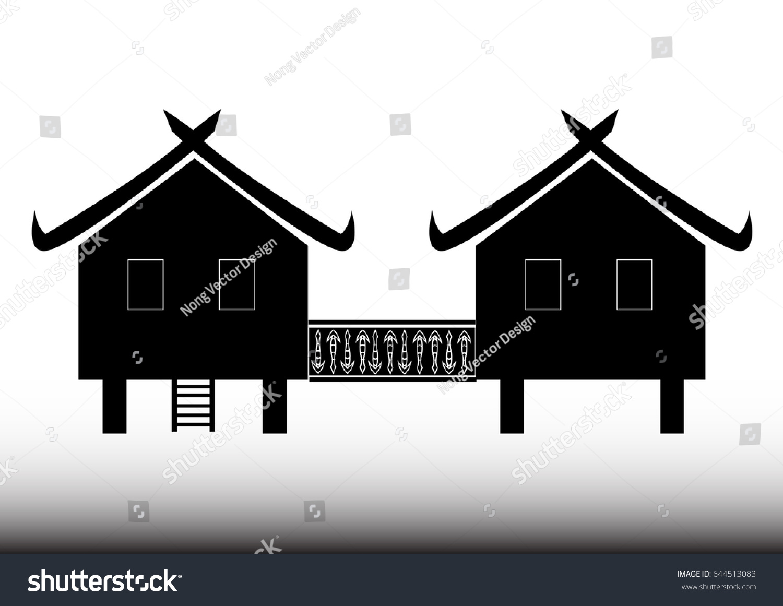 Thai House Icon Illustration Asia Village Stock Vector HD (Royalty ...