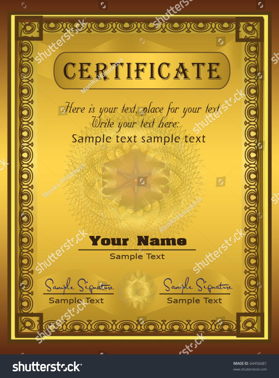 Великолепные диплом шаблон сертификата 03, векторный файл - 365psd.com.