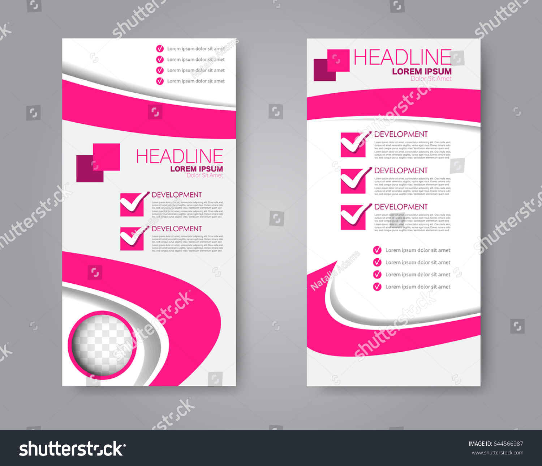 vector flyer leaflet design set two stock vector 644566987