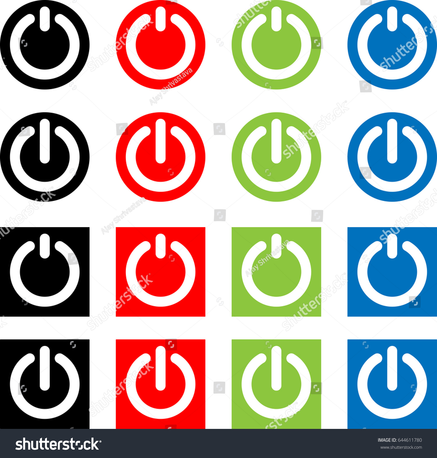 Power On Off Switch Icon Sign Stock Illustration 644611780