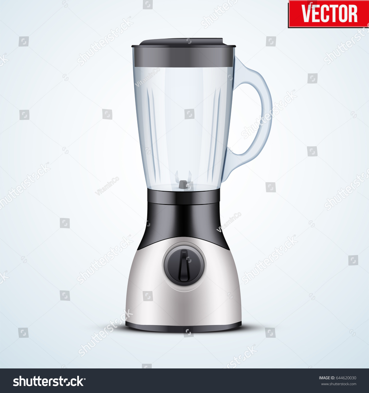 kitchen blender glass container electronic kitchen stock vector