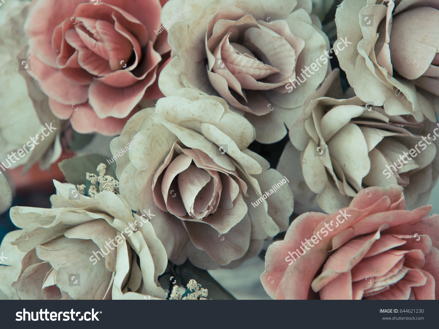 Silk Dusty Pale Pink Flowers Background Stock Photo Royalty Free