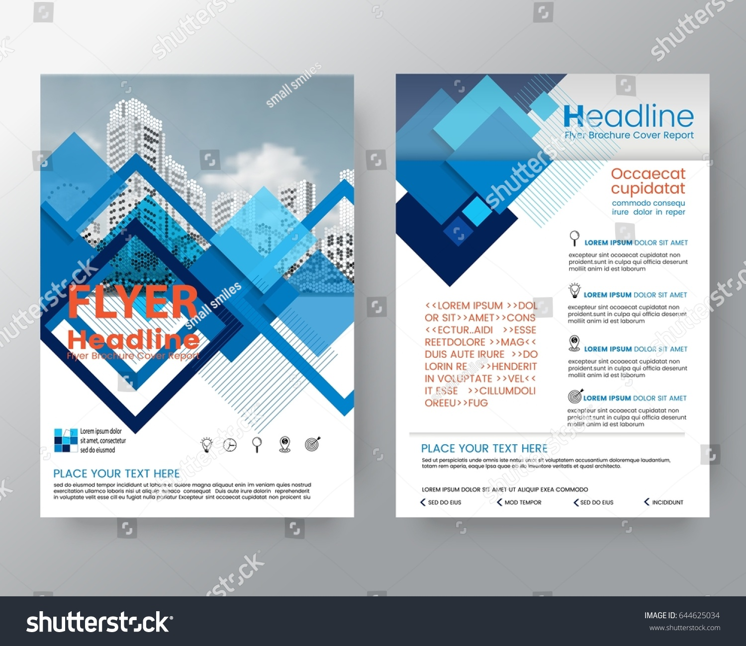 business templates creative design abstract blue stock vector creative design layout