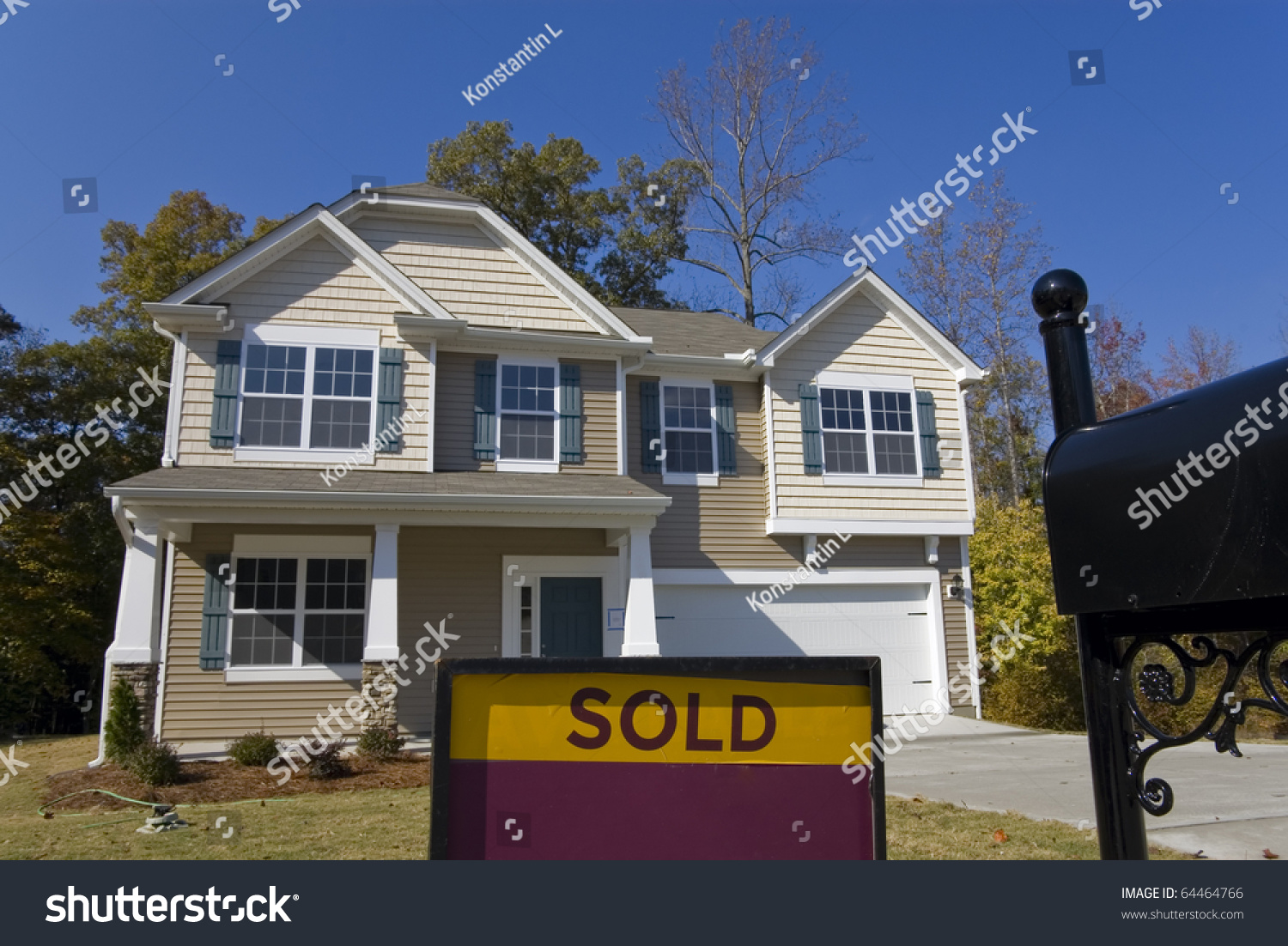 Sold new home for sale sign stock photo 64464766 for New home sign