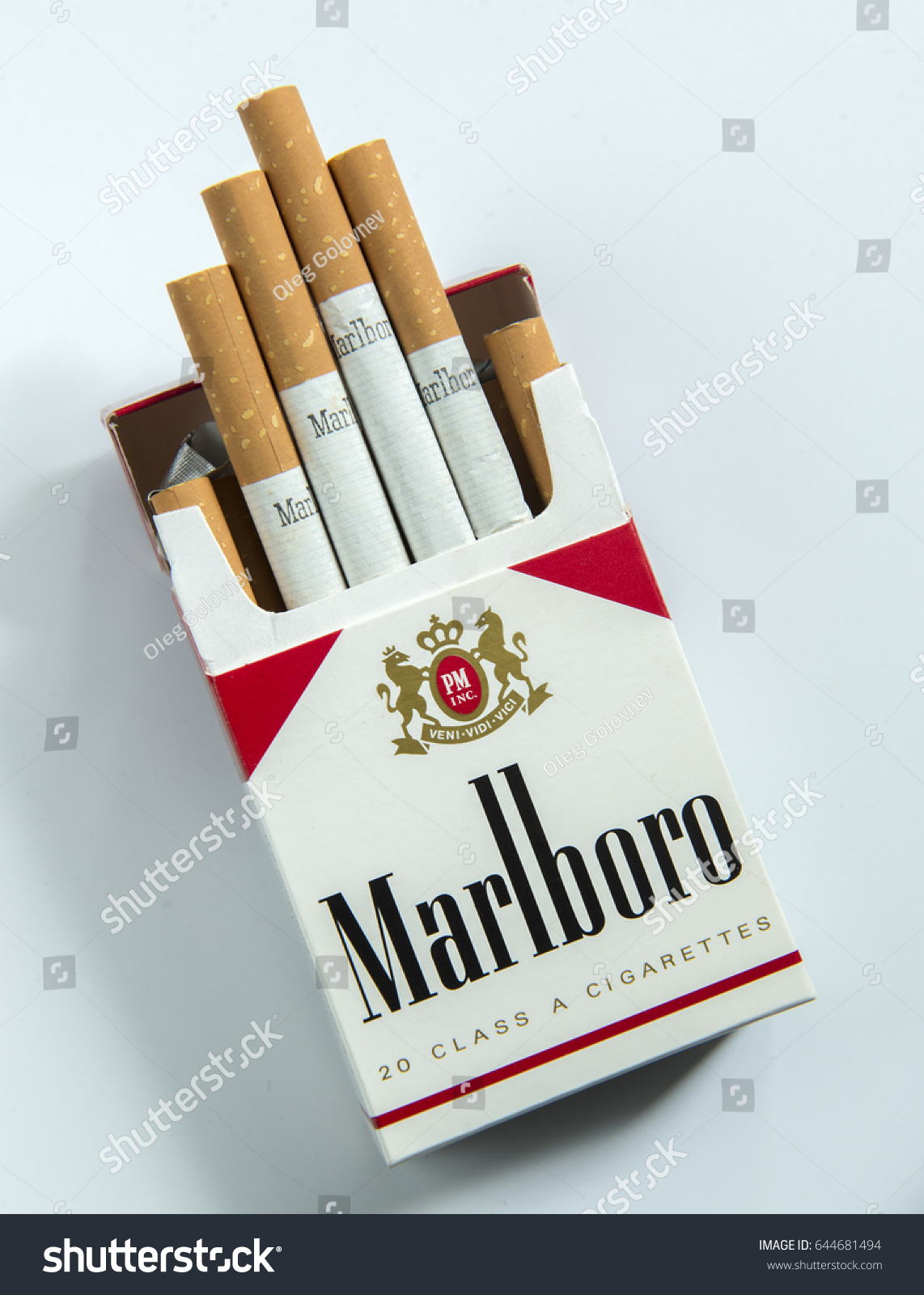Moscow May 21 2017 Pack Marlboro Stock Photo (Edit Now