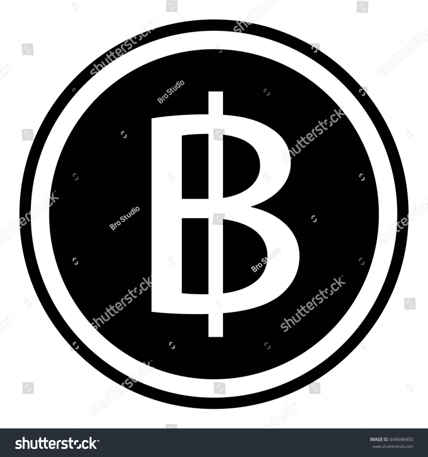 Thai baht sign currency thailand thb stock vector 644698450 thai baht sign currency thailand thb vector baht coin vector buycottarizona Gallery