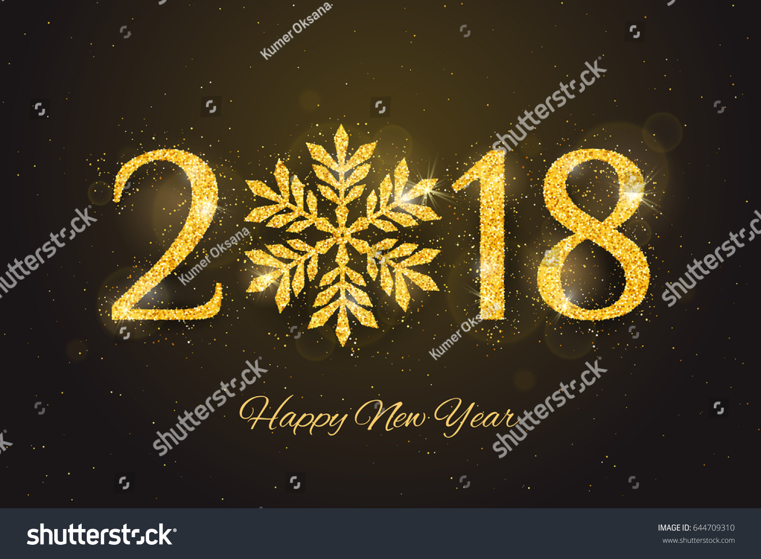 Vector 2018 Happy New Year Merry Stock Vector Royalty Free