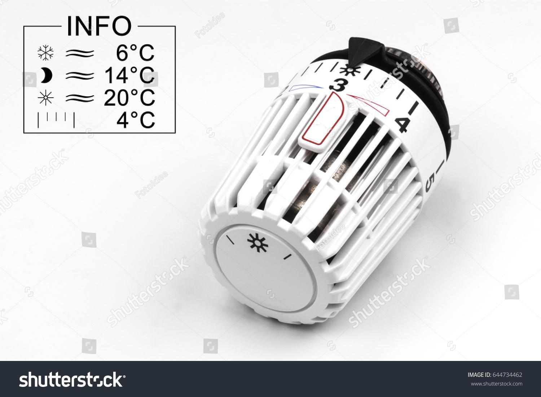Thermostatic Radiator Valve Symbol Info Isolated Stock Photo