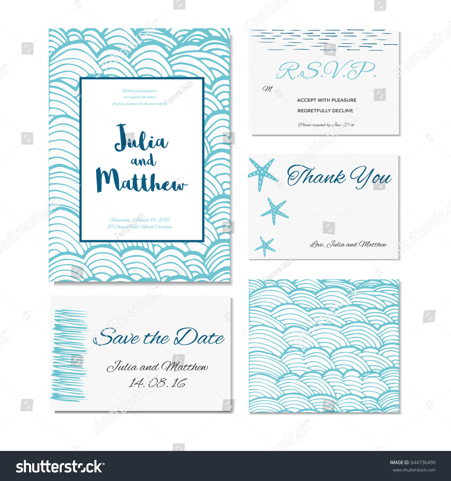 Wedding invitation thank you save date stock vector 2018 644736490 wedding invitation thank you save the date baby shower menu information stopboris Image collections