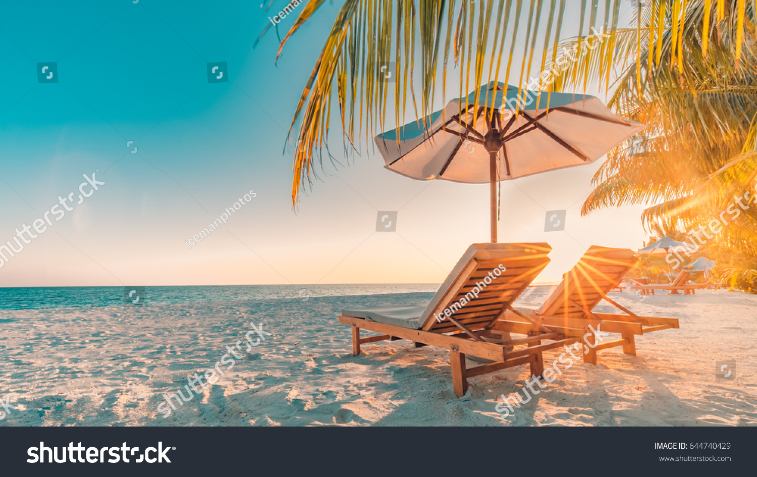 tranquil scenery relaxing beach tropical landscape stock photo edit