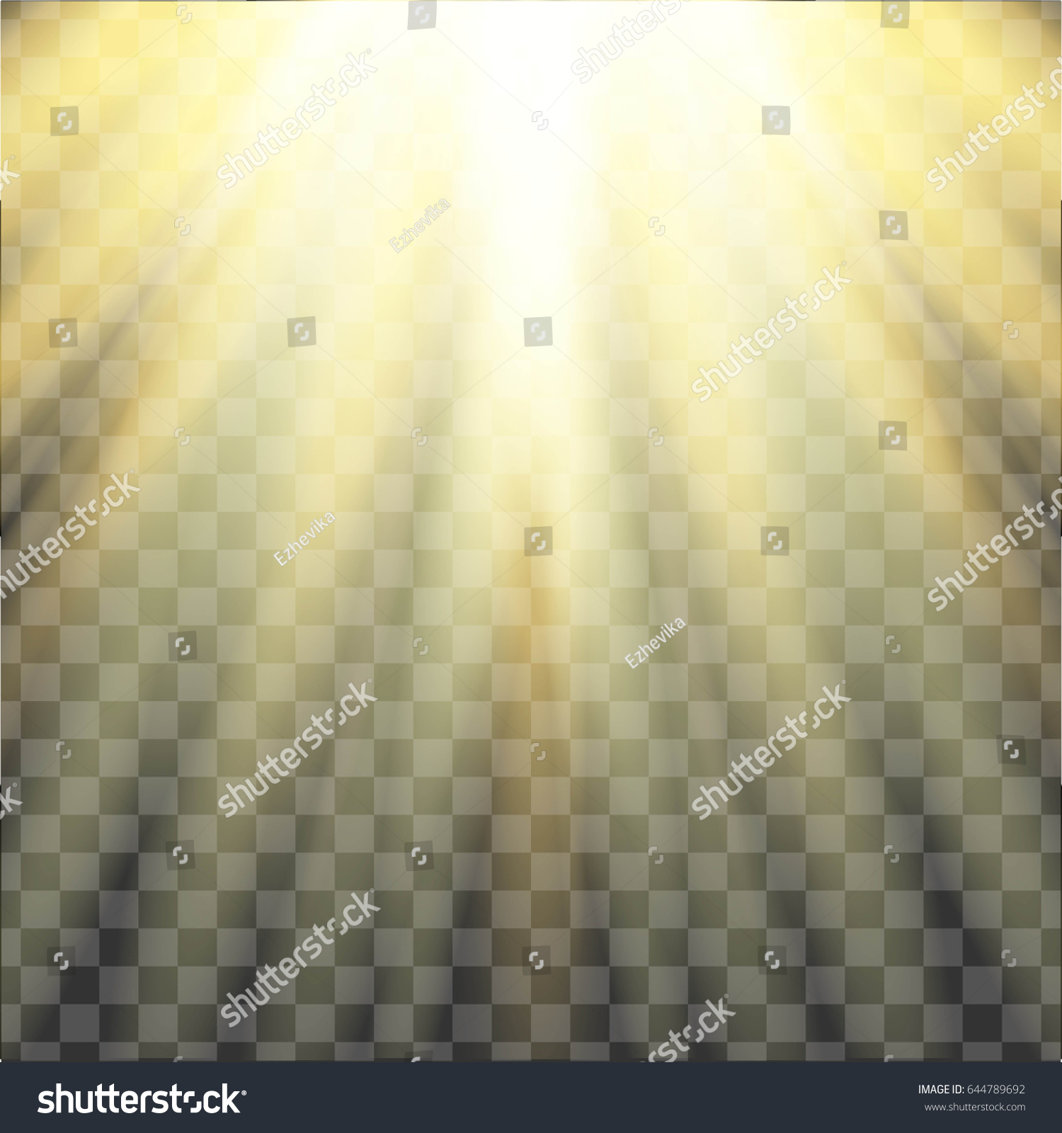 Yellow Warm Light Effect Sun Rays Stock Vector 644789692 ... for Sun Light Effect Background  67qdu