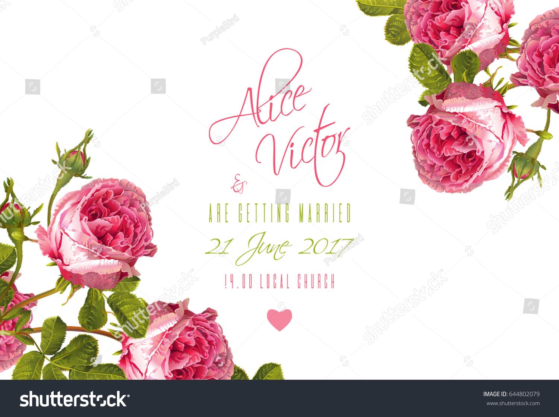 rose wedding invitation background - photo #7